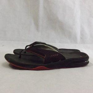 Mens REEF Flip Flops - Black/Red - Sz 10